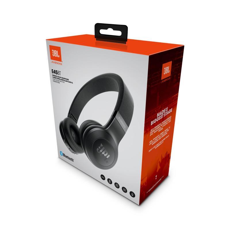Authentic JBL E45BT Bluetooth On-Ear Headphones (Black) Singapore