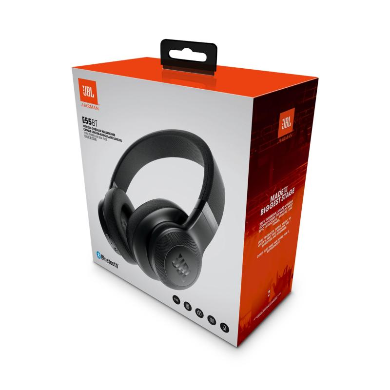 Authentic JBL E55BT Bluetooth On-Ear Headphones (Black) Singapore