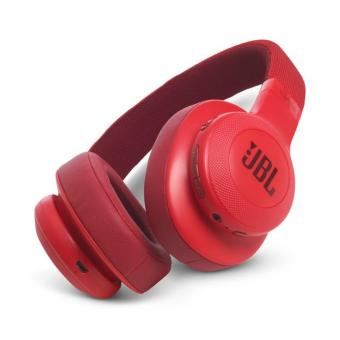 Authentic JBL E55BT Bluetooth On-Ear Headphones (Red)
