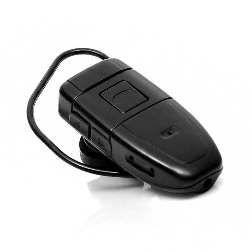 Bluetooth Headset with Spy Hidden Camera 4GB (Black) - intl