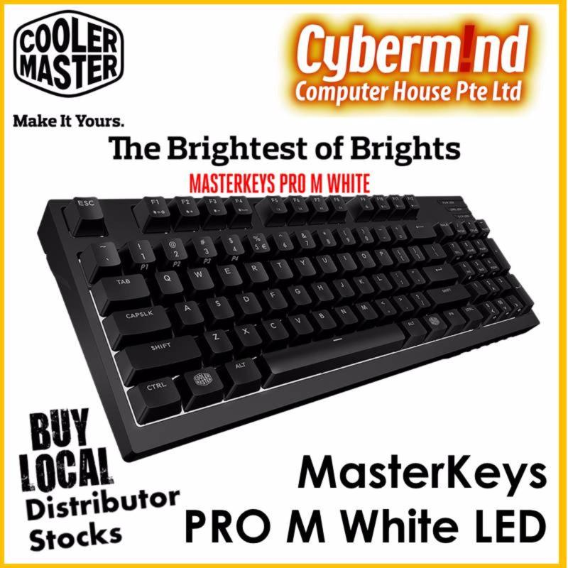 CoolerMaster Masterkeys Pro M White LED mechanical keyboard (Cherry MX Red switch) Singapore
