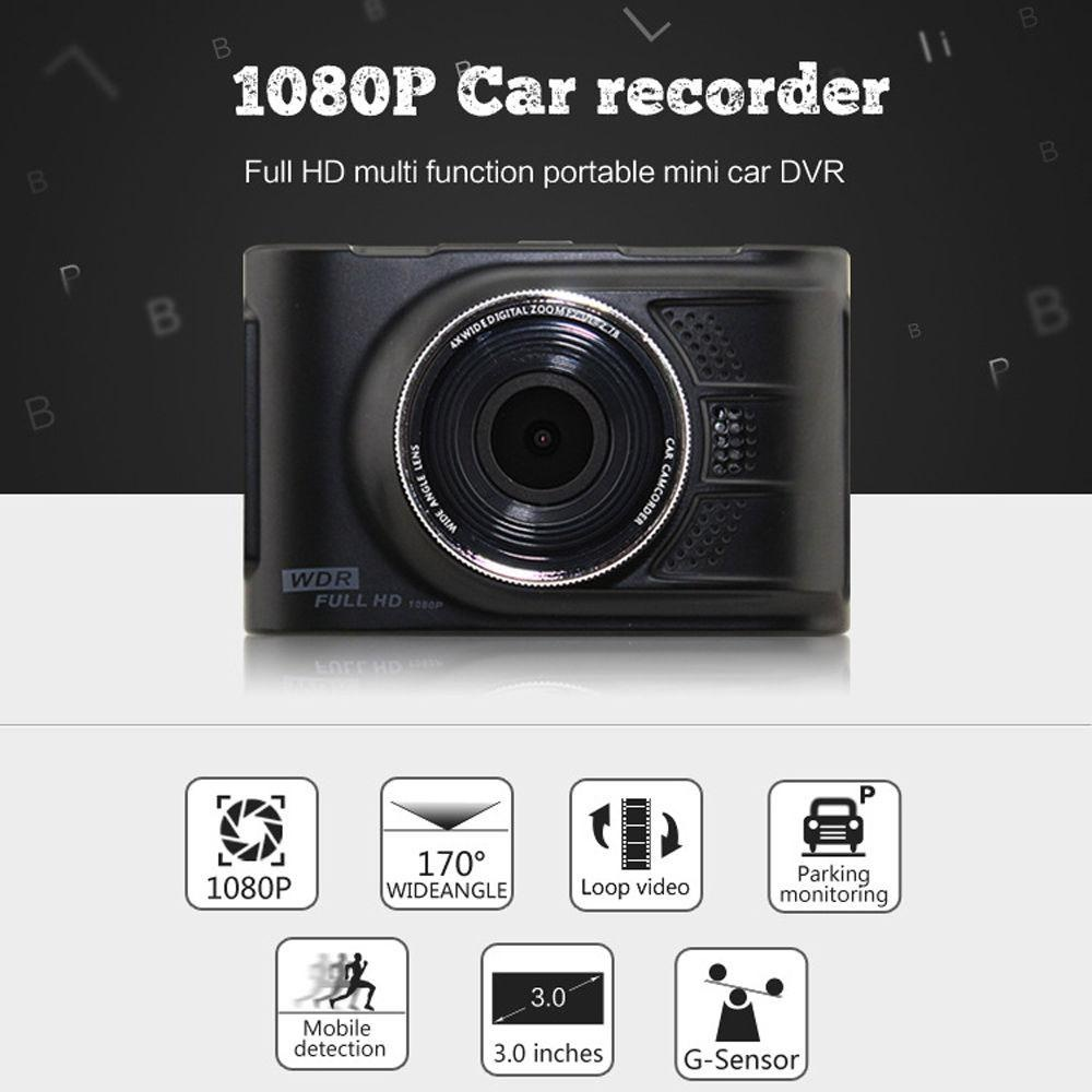 Car 170? 1080P 3.0 Inch Vehicle Digital Video Recorder CameraG-Sensor - intl