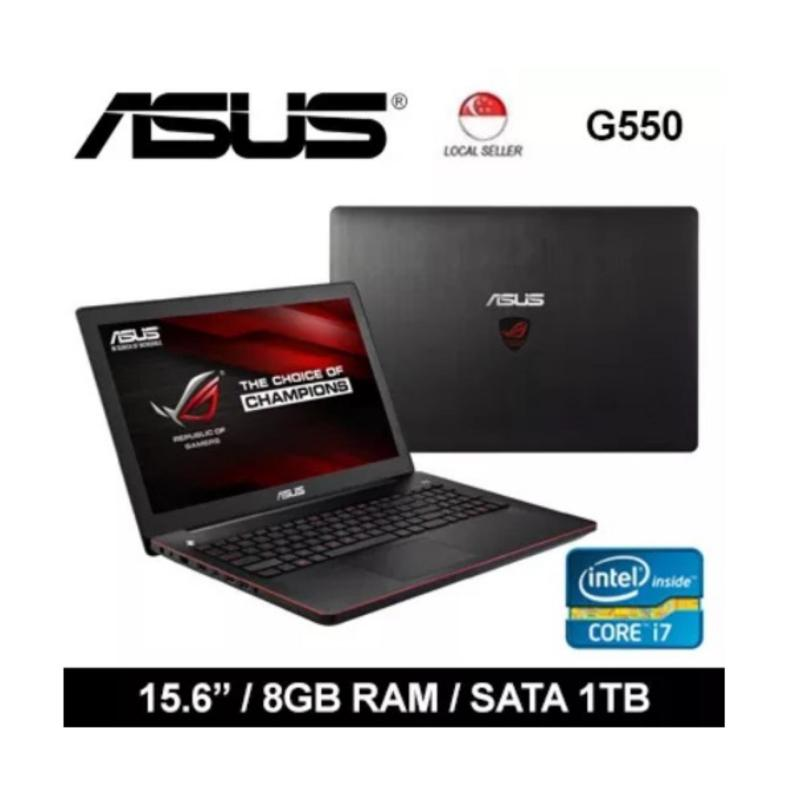 [Certified Refurbished] Asus G550 15.6 Intel i7-4710HQ 8GB RAM + SATA 1TB GF 850m Windows 8 Gaming Laptop (Black)