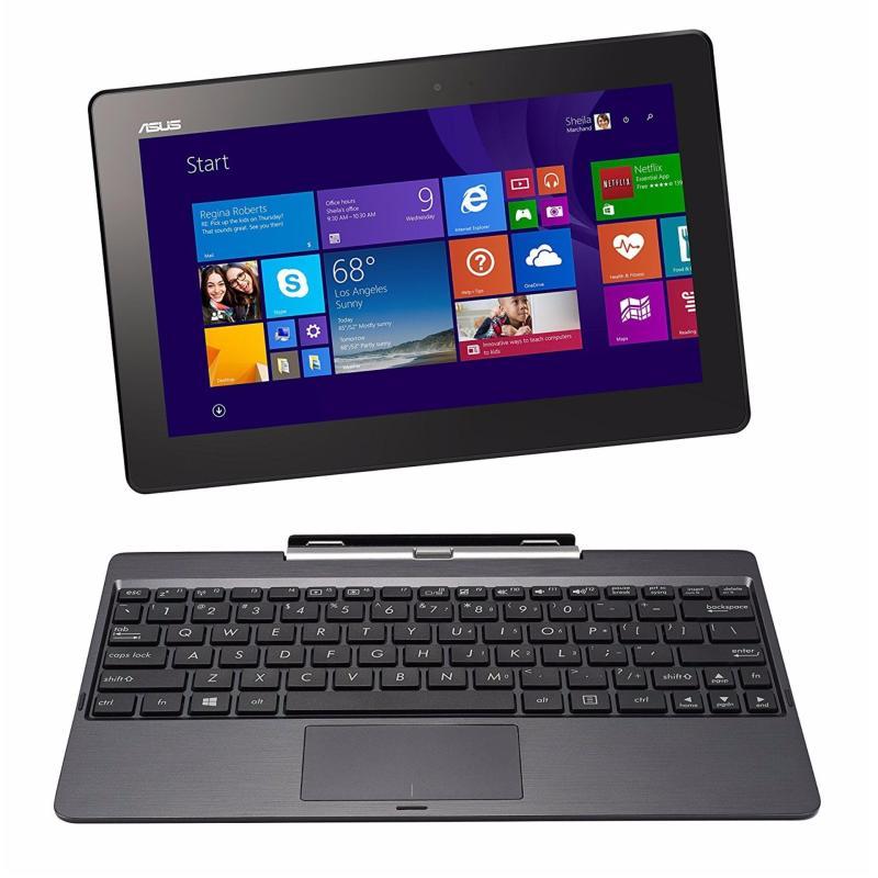 [Certified Refurbished] Asus H100 10.1 Intel Atom Z3740 2GB RAM 64GB SSD Windows 8 Laptop (Black)