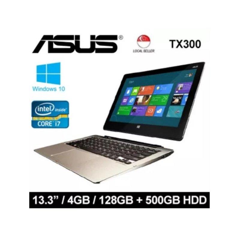 [Certified Refurbished] Asus TX300 13.3 Intel i7-3537U 4GB RAM 128GB + 500GB HDD Windows 8 Laptop (Black / Grey)