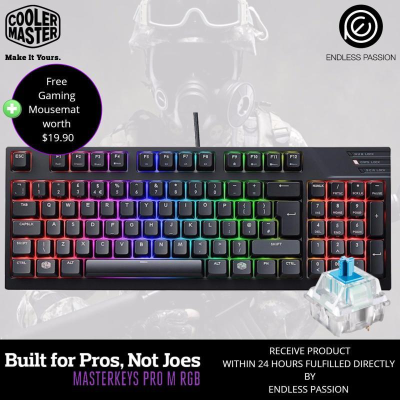 Cooler Master Masterkeys Pro M RGB Mechanical Gaming Keyboard - MX CHerry Blue/Brown Singapore