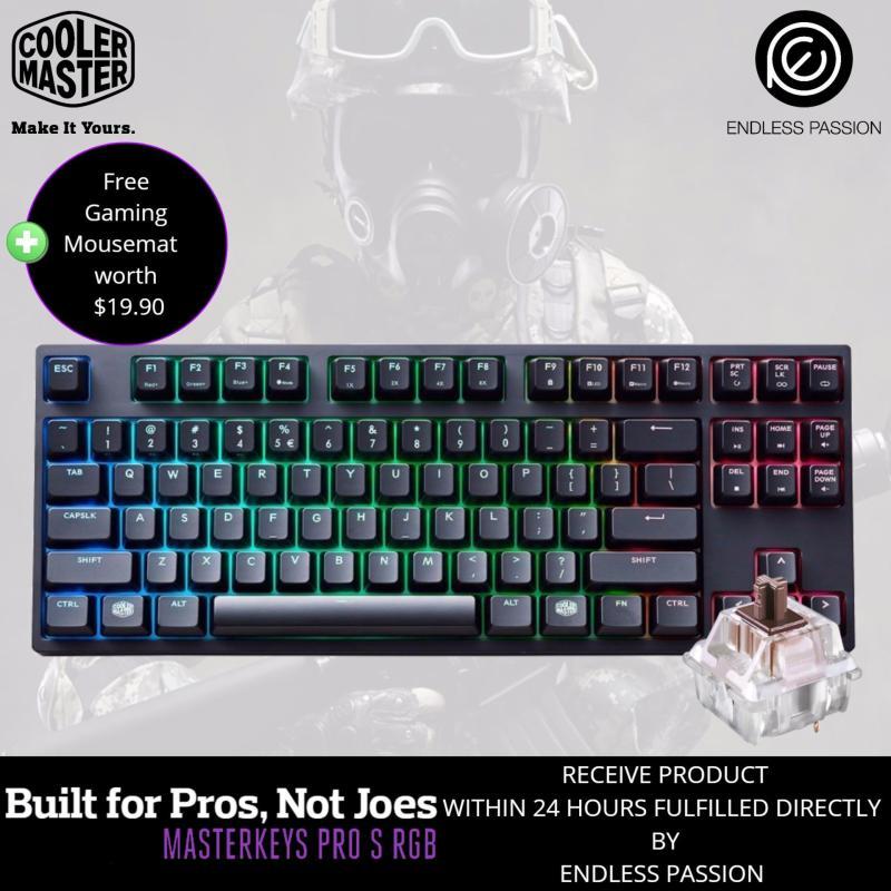 Cooler Master Masterkeys Pro S Rgb Mechanical Gaming Keyboard Mx Cherry Blue Brown Singapore