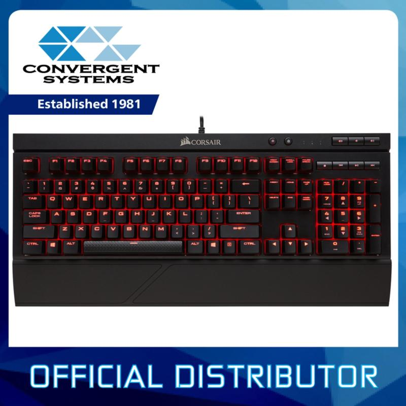 Corsair Gaming K68 Mechanical Gaming Keyboard IP32 Splash Proof - Red LED - Cherry MX Red Singapore