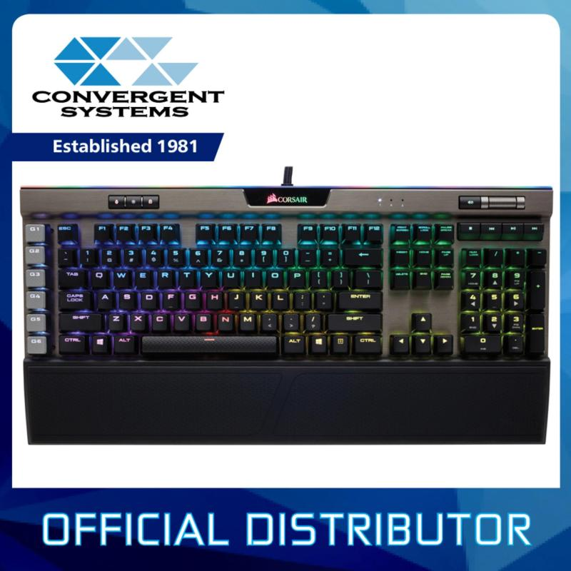 Corsair Gaming K95 RGB PLATINUM Mechanical Gaming Keyboard Gunmetal — Cherry MX Speed RGB Singapore