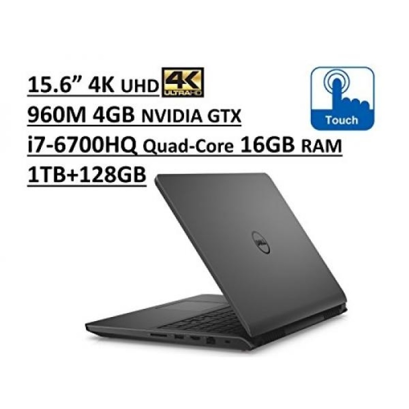 Dell Inspiron 7000 i7559 15.6 UHD 4K TouchScreen Gaming Laptop: Intel Quad-Core i7-6700HQ | 16GB RAM | NVIDIA GTX 960M 4GB | 1TB + 128GB SSD | Backlit Keyboard | Windows 10 - Grey - intl