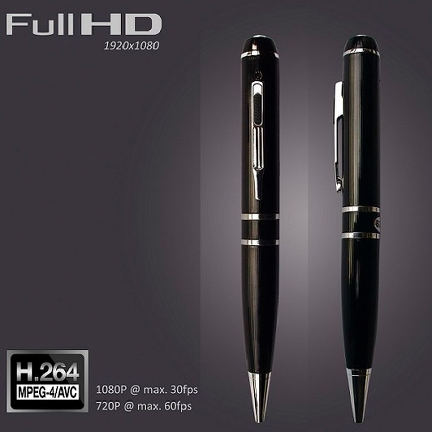 DVR-06D Full HD 1080P H.264 16GB Pen Camera with Hidden Lens(Black) - intl