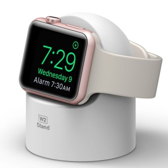 Harga Elago W2 Stand for Apple Watch (Compatible with Apple NightstandMode) - White