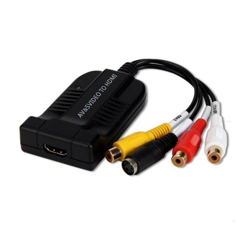 HDMI to S-video & AV Converter AV SVIDEO Output Simultaneously 6 System NTSC PAL - intl