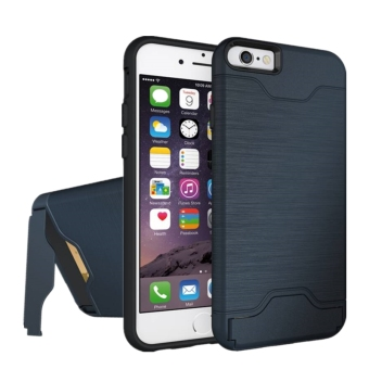 2 in 1 High Impact Defender Bumper Case Cover with Kickstand & Card Slot for Apple