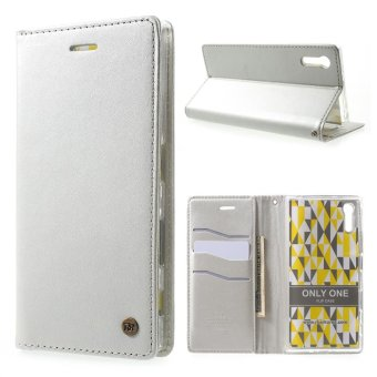 Harga ROAR KOREA Only One Wallet Leather Phone Case for Sony Xperia XZ Phone Cases- Silver - intl