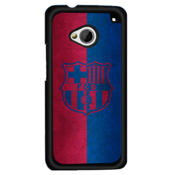 Harga Y&M HTC M7 Cell Phone Case Favorite FCB Badge Pattern Cover (Multicolor) - intl