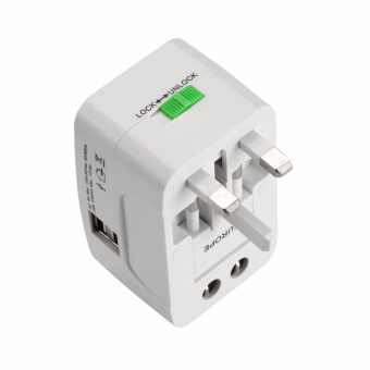 BSTUO All in One Universal International Plug Adapter w/ Dual USB 1A - intl - 2