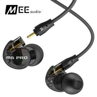 Harga MEE audio M6 PRO Universal-Fit Noise-Isolating Musician's In-Ear Monitors with Detachable Cables (Black)