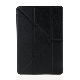 Harga Moonmini PU Leather Flip Case with Multi Angle Stand Function for Apple iPad 5/iPad Air (Black)