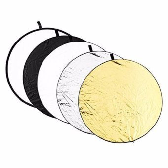 "Harga AFAITH 110cm (43"") 5-in-1 Collapsible Professional Photography Portable Photo Studio Circular Light Reflector Panels - Gold, Silver, Black, White & Translucent AF018 - intl"