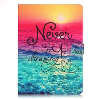 Harga Moonmini Leather Wallet Stand Case Cover for Apple iPad Pro 9.7 inch (Never Stop Dreaming)