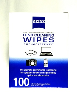 Harga Zeiss Lens Cleaning Wipes 100pcs Twin Pack