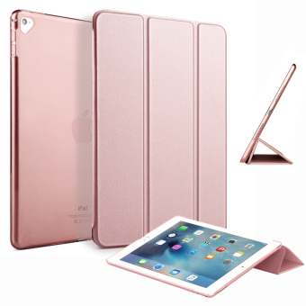 "Harga Slim Tri-fold Case PU Leather Smart Cover for Apple iPad Pro 9.7"" (Rose Gold)"