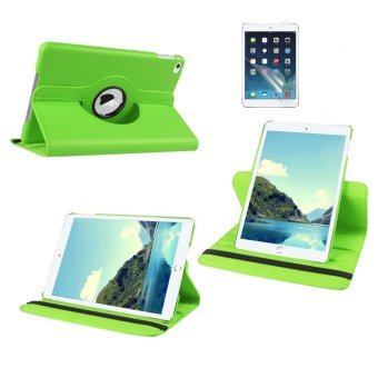 Harga Welink 2 in 1 iPad Air 2 Cover Case Plus Screen Protector, 360 Degree Rotating PU Leather Stand Smart Case Cover with Automatic Wake/Sleep Feature for iPad Air 2 (Green)(Export)(Intl)