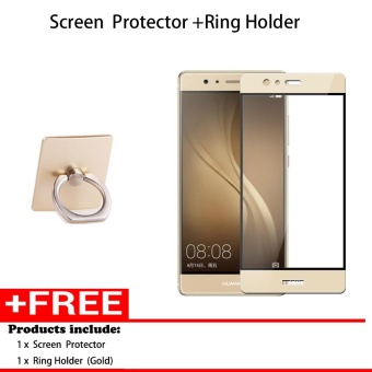 Harga Full Cover Screen Protectors and Ring holder 9H Super Hardness HD Toughened Tempered Glass for Huawei Mate 8 - intl