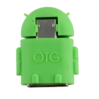 Harga Android Robot Micro USB Host OTG Adapter Cable(Green) - intl