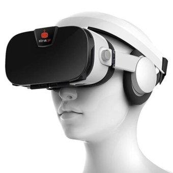 FIIT VR 3F VR 3D Glasses + Bluetooth Controller - White + Black - intl - 3