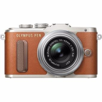 Harga Olympus PEN E-PL8 Mirrorless Micro Four Thirds Digital Camera with 14-42mm Lens (Brown)Warranty