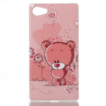 Harga Lovely Bear Soft TPU Siliconr Gel Back Rear Case Cover for Sony Xperia Z5 Compact / Z5 Mini (Multicolor)