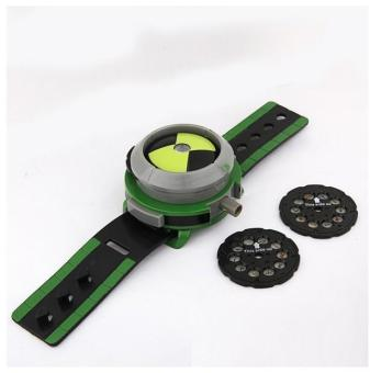 Harga Hot Selling Ben 10 Style Japan Projector Watch BAN DAI Genuine Toys for Kids Children Slide Show Watchband Drop - intl