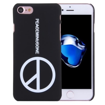 Harga For IPhone 7 PEACEMINUSONE Words Pattern Plastic Protective Case - intl