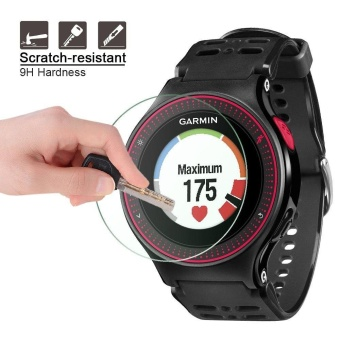 2PACK Premium HD Clear 9H Hardness Tempered Glass Screen Protector Film for Garmin Forerunner 225 Smart Watch - intl - 3