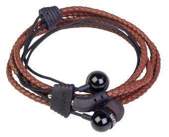 Wrap Fabric In-ear headphone (Brown)