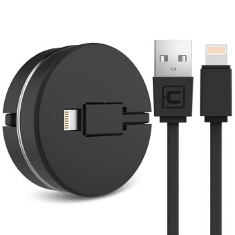 Harga Retractable USB Charging Charger Cable Lightning Cord For IPhone 5 / 5s / 6 / 6s / 6s Plus (Black) - intl
