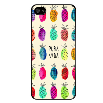 Harga Y&M Fashion Colorful Pineapple Carton Pattern Phone Case for Iphone 5S(Multicolor) - intl