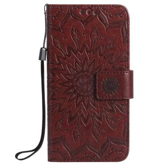 Harga Flip PU leather case for Samsung galaxy Note 3 Sun Flower Embossed with card slot wallet holder stand - intl