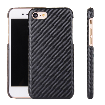 Harga Moonmini Case for Apple iPhone 7 Leather Back Case Cover - Carbon Fiber - intl