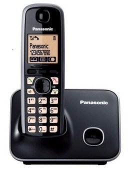 Panasonic Advanced Cordless KX-TG3711 Black Cordless Phone 1/2 Handset With Caller ID Speaker And Big Display with PSB Safety Mark Approved