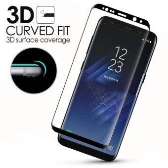 Galaxy S8 Screen Protector(3D Glass), LUOWAN 3D Full Coverage Tempered Glass Screen Protector for Samsung Galaxy S8 (White) - 2