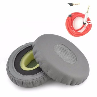 Harga misodiko Replacement Earpads Foam Ear Pad Cushion Kit for On Ear OE2 OE2i Headphones with 3.5mm Audio Cable (1-Pair, Black) - intl