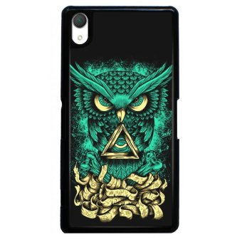 Harga Y&M Cool Green Owl Pattern SONY Xperia Z2 Phone Cover (Multicolor)