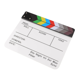 Harga Clapperboard Acrylic Movie Action Slate Clapper Board