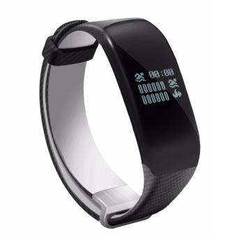 Harga Betreasure H5 Swimming Smart Wristband IP67 Fitness Tracker Bluetooth for IOS Android Phone Support 4 Swim Stroke Bracelet HRM Band Rubber Belt (Black) - intl