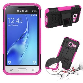 Harga Hybrid High Impact Shockproof Case Cover For Samsung Galaxy J1 Mini (Hot Pink)