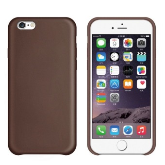 Harga PU Leather Snap-On Back Case Cover For Apple iPhone 7 (Brown)
