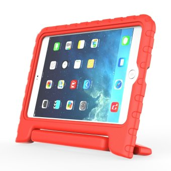 Harga Welink Apple iPad Air 2 EVA Case / Shockproof Case Light Weight Kids Case Super Protection Cover Handle Stand Case For Apple iPad Air 2 (Red)(Export)